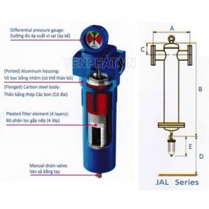 Bộ lọc khí nén Jmec JAL-900L