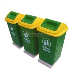Thùng rác nhựa 60 lít nắp bập bênh