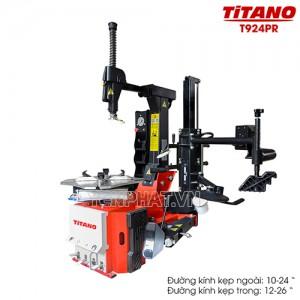 Máy ra vào lốp gật gù Titano T924PR (Tay hỗ trợ + Cột bơm lốp có đồng hồ)