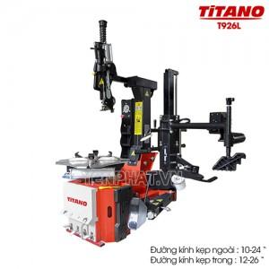 Máy ra lốp không lơ via Titano T926L (Tay hỗ trợ + Cột bơm lốp có đồng hồ)