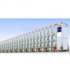 Cổng xếp điện inox TC-J8913
