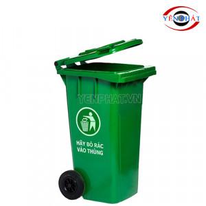 Thùng rác công cộng 120L nắp kín