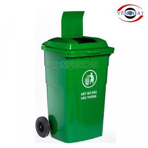 Thùng rác công cộng 150L nắp kín