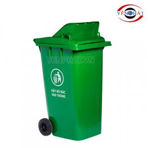 Thùng rác công cộng 240L nắp hở