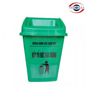 Thùng rác nhựa 25 lít nắp bập bênh