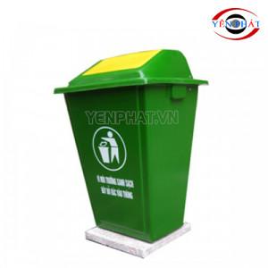 Thùng rác nhựa 60 lít nắp lật