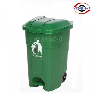 Thùng rác nhựa HDPE 120 lít có đạp chân
