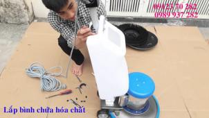 Cấu tạo máy chà sàn và cách lắp máy chà sàn đơn