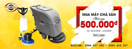 NHẬN QUÀ TƯNG BỪNG, CHÀO MỪNG ĐẠI LỄ 30/4, 1/5: Mua máy chà sàn công nghiệp nhận ngay 500.000 đồng