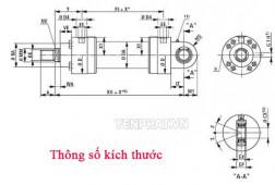 Thông số kích thước & bản vẽ lắp đặt xi lanh thủy lực