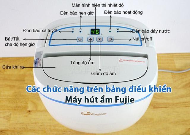 máy hút ẩm Fujie đa chức năng