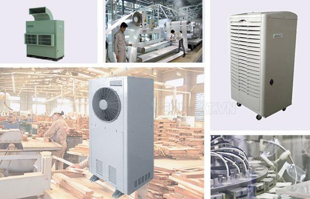 máy hút ẩm công nghiệp sử dụng trong nhiều lĩnh vực