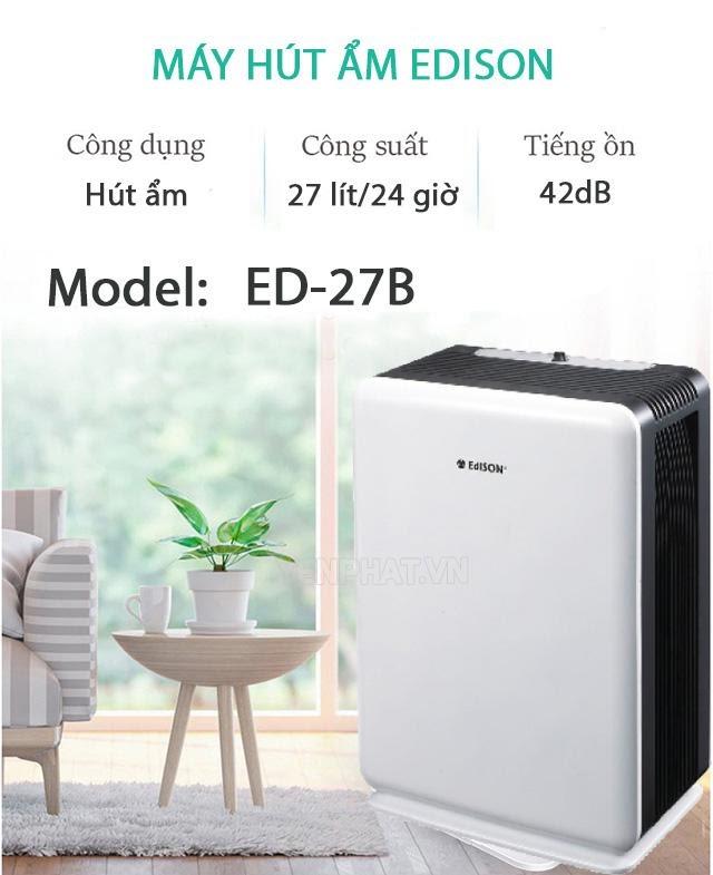 hướng dẫn sử dụng máy hút ẩm edison ed-16b