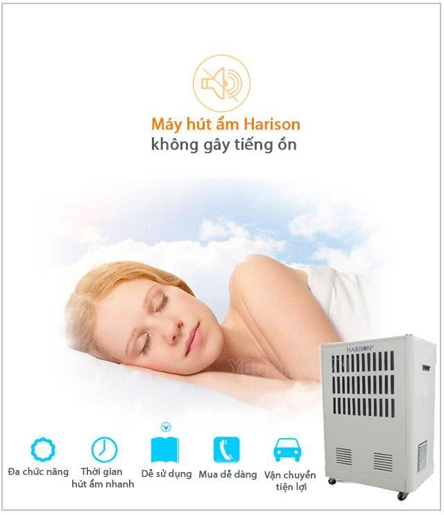 máy hút ẩm không khí Harison không gây tiếng ồn