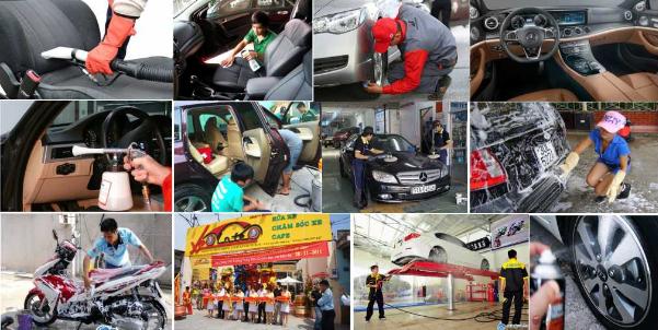 ứng dụng máy rửa xe