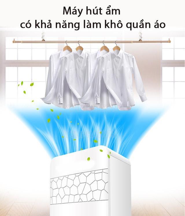Máy hút ẩm không khí có khả năng làm khô quần áo