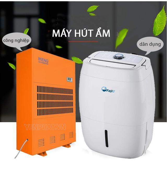 máy hút ẩm gia đình và công nghiệp