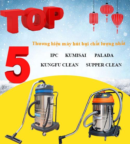 Top 5 thương hiệu máy hút bụi công nghiệp chất lượng cao