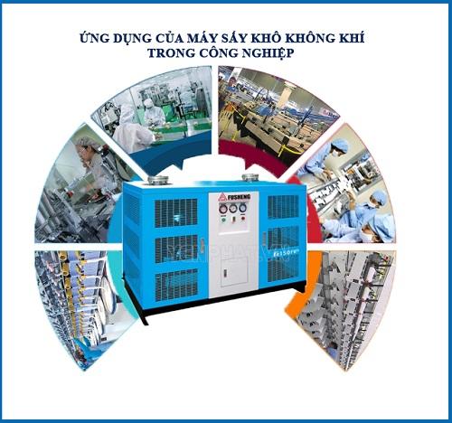 Ứng dụng máy sấy khô khí trong công nghiệp