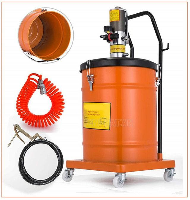 cấu tạo máy bơm mỡ khí nén